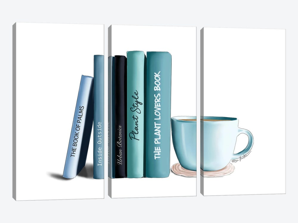 Book Lover by Elza Fouche 3-piece Canvas Wall Art