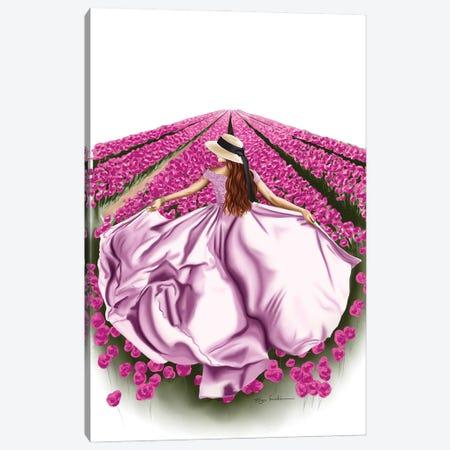 Tulip Fields Canvas Print #ELZ131} by Elza Fouche Canvas Artwork