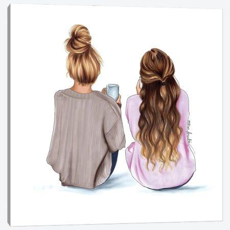 Sisters Canvas Print #ELZ132} by Elza Fouche Canvas Artwork