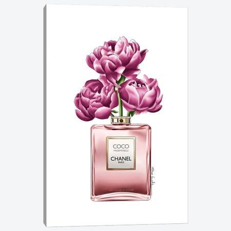 Perfume & Flowers Canvas Print #ELZ138} by Elza Fouche Canvas Art