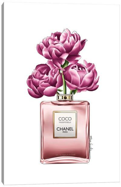 Perfume & Flowers Canvas Art Print