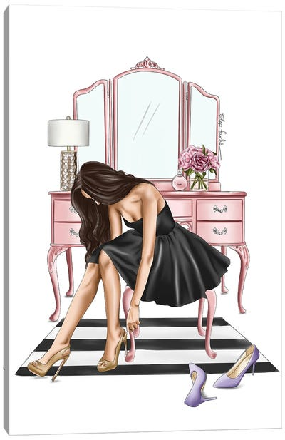 Little Black Dress Canvas Art Print
