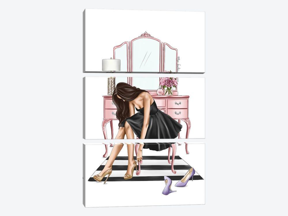 Little Black Dress by Elza Fouche 3-piece Canvas Print