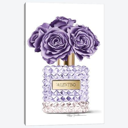 Purple roses & Perfume 3-Piece Canvas #ELZ141} by Elza Fouche Canvas Art Print