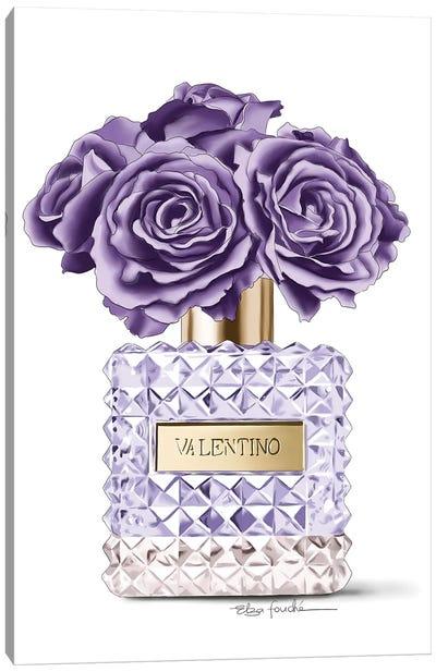 Purple roses & Perfume Canvas Art Print