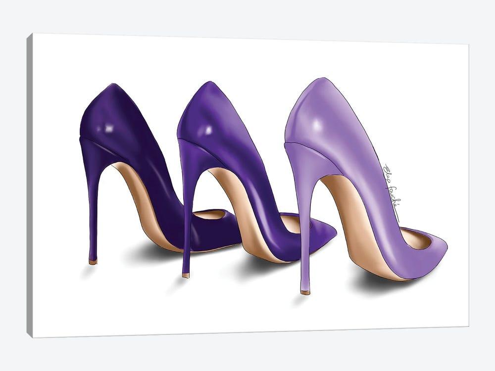 Purple Shades by Elza Fouche 1-piece Canvas Artwork