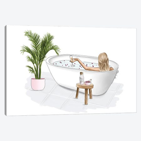 Bath Bliss Canvas Print #ELZ147} by Elza Fouche Canvas Artwork