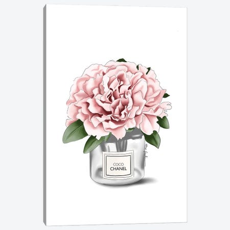 Chanel Flower Canvas Print #ELZ148} by Elza Fouche Canvas Art Print