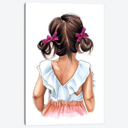 Bows & Ruffles Canvas Print #ELZ14} by Elza Fouche Canvas Art Print