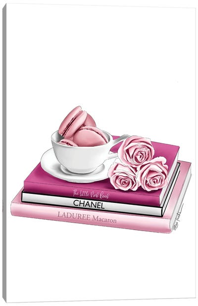 Macarons & Roses Canvas Art Print