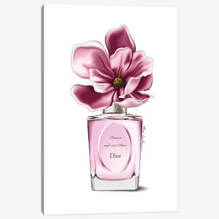Dior Perfume & Magnolia Canvas Print #ELZ152} by Elza Fouche Canvas Wall Art