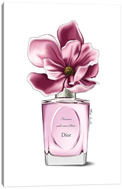 Dior Perfume & Magnolia Canvas Art Print