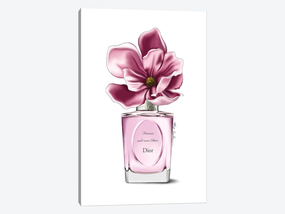 Dior Perfume & Magnolia by Elza Fouche 1-piece Canvas Artwork