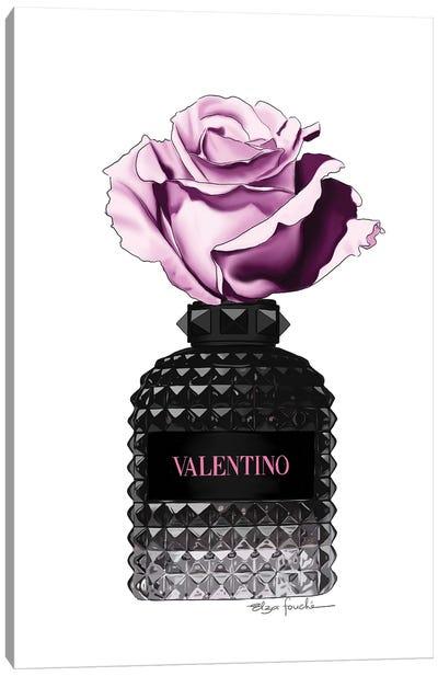 Valentino Perfume & Rose Canvas Art Print