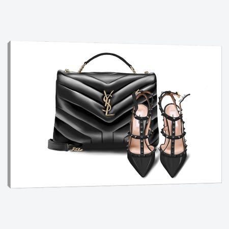 Ysl & Valentino Canvas Print #ELZ156} by Elza Fouche Canvas Print