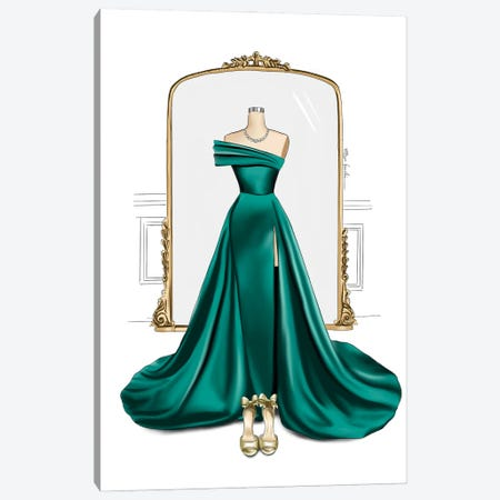 Gown & Mirror Canvas Print #ELZ158} by Elza Fouche Canvas Artwork