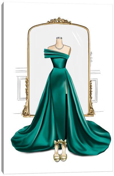 Gown & Mirror Canvas Art Print