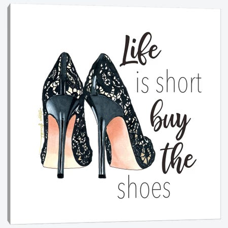 Buy the Shoes 3-Piece Canvas #ELZ15} by Elza Fouche Art Print