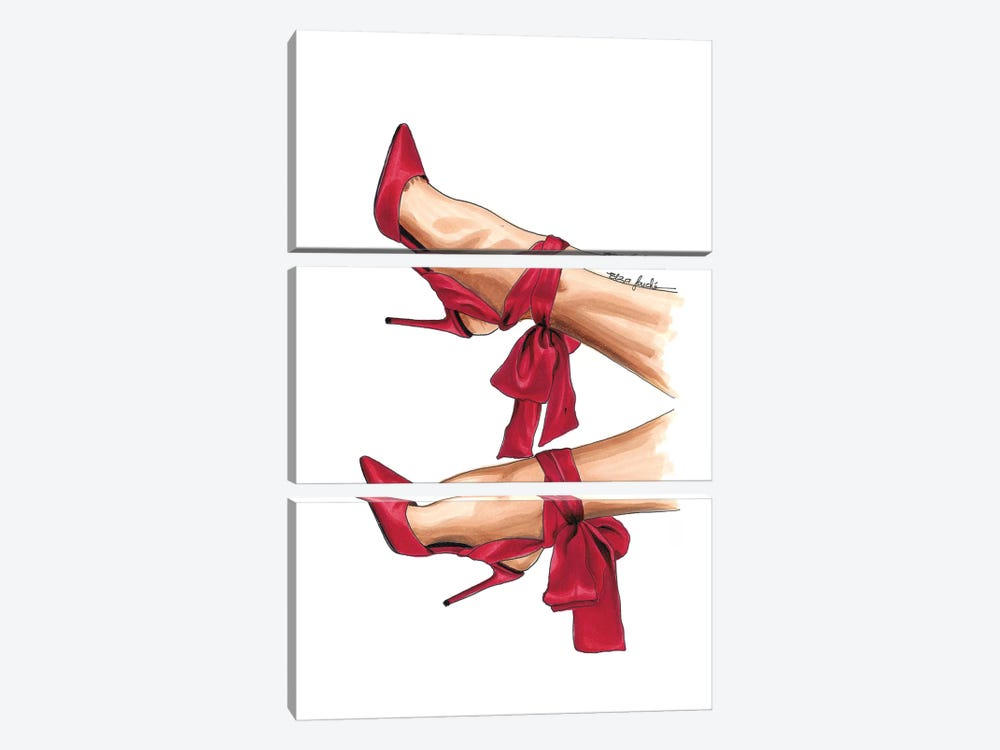 Cardinal Heels by Elza Fouche 3-piece Canvas Art Print