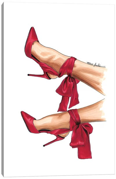 Cardinal Heels Canvas Art Print