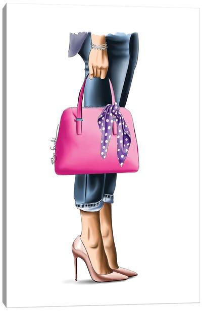 Pink Handbag Canvas Art Print