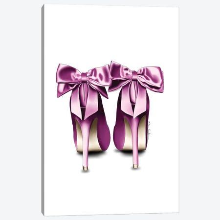 Satin Bow Heels Canvas Print #ELZ180} by Elza Fouche Art Print