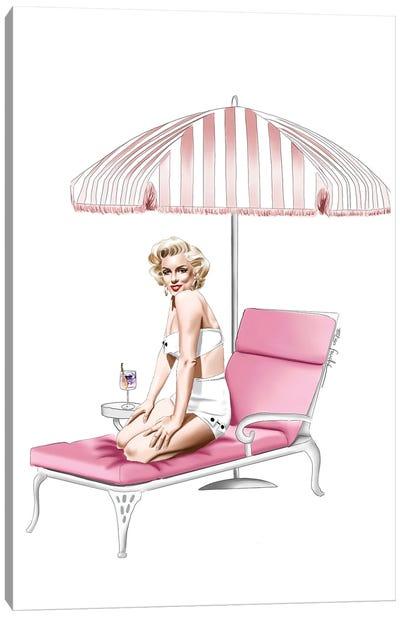 Marilyn At The Resort Canvas Art Print