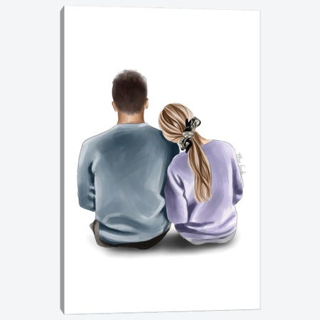 Together Forever Canvas Print #ELZ185} by Elza Fouche Canvas Artwork