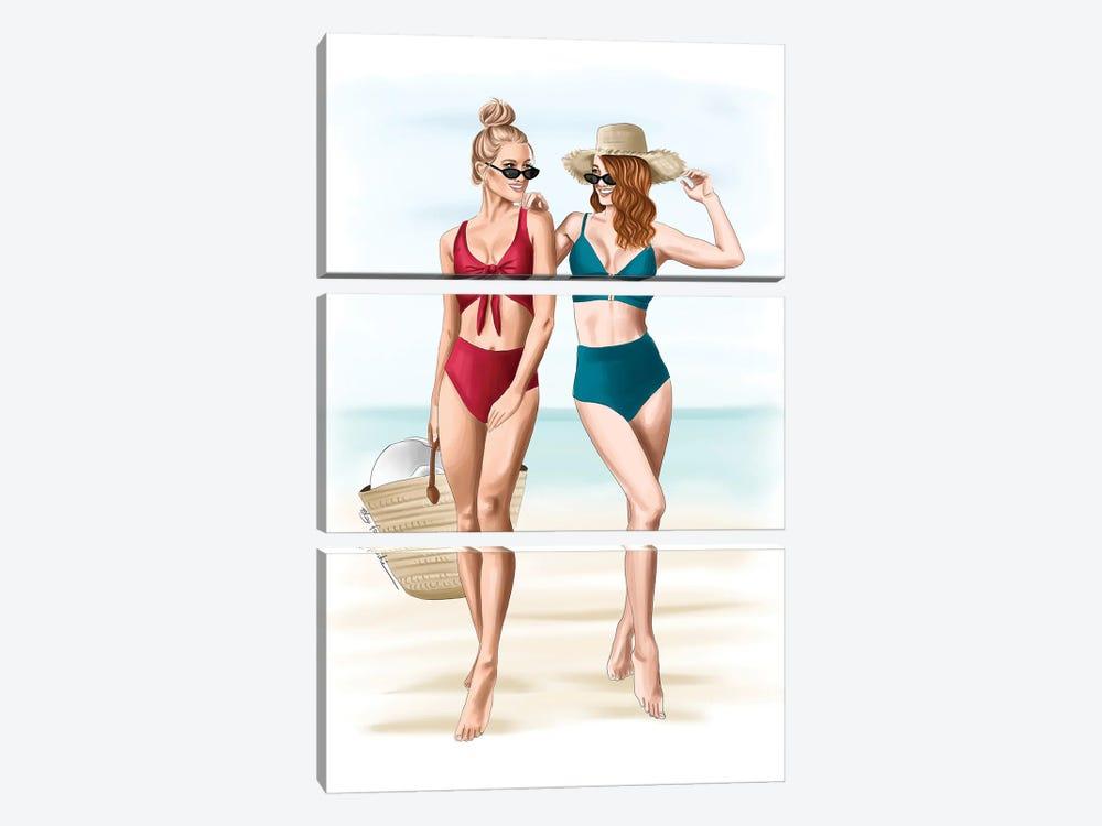 Beach Days by Elza Fouche 3-piece Art Print