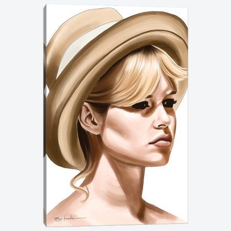 Brigitte Bardot Canvas Print #ELZ198} by Elza Fouche Canvas Art