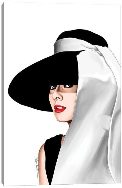 Audrey & Her Hat Canvas Art Print