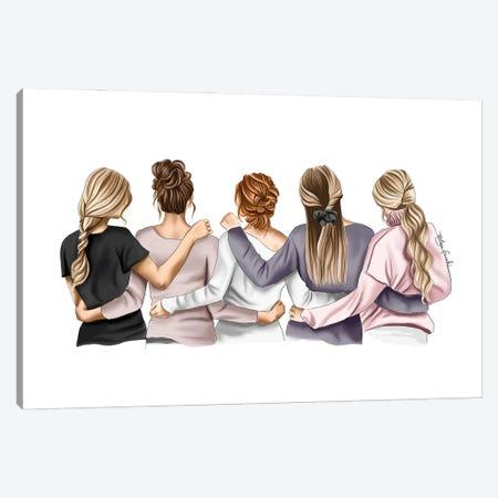 5 Friends Canvas Print #ELZ207} by Elza Fouche Canvas Print