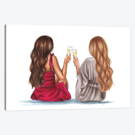 Cheers Canvas Print #ELZ20} by Elza Fouche Canvas Print