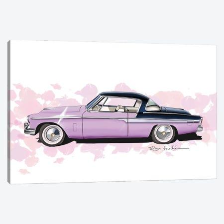 Studebaker Commander Purple Canvas Print #ELZ211} by Elza Fouche Art Print