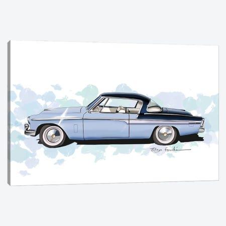 Studebaker Commander Blue Canvas Print #ELZ212} by Elza Fouche Canvas Art Print
