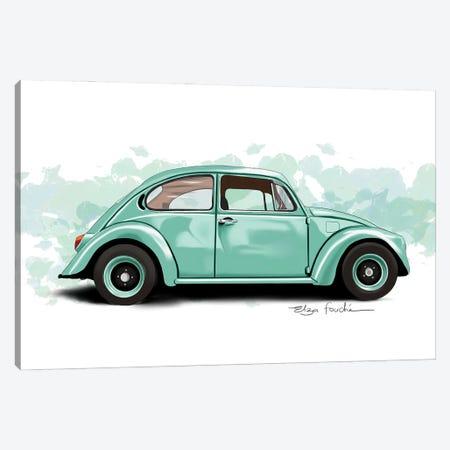 Buggy Green Canvas Print #ELZ214} by Elza Fouche Canvas Art