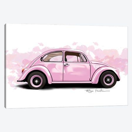 Buggy Pink Canvas Print #ELZ216} by Elza Fouche Canvas Art