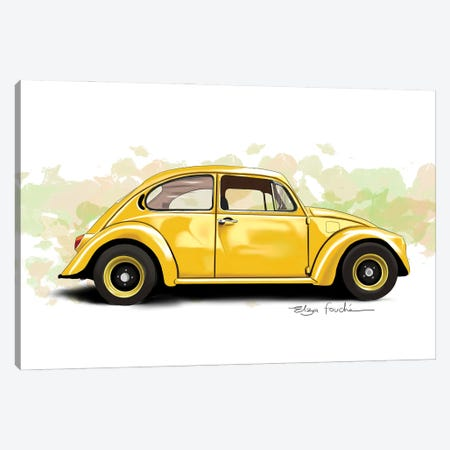 Buggy Yellow Canvas Print #ELZ217} by Elza Fouche Canvas Art