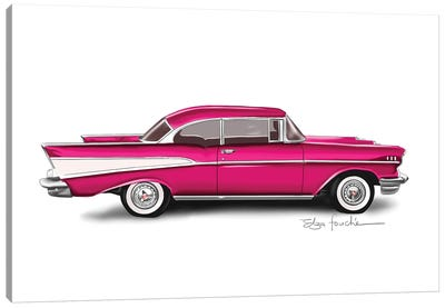 Bel Air Pink Canvas Art Print