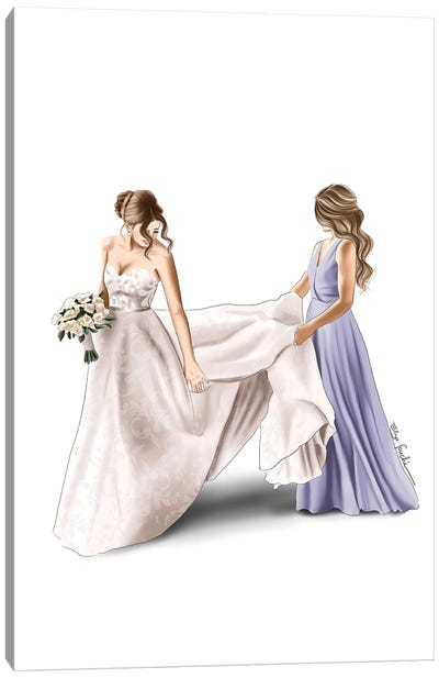 Bride And Maid Of Honour Canvas Art Print