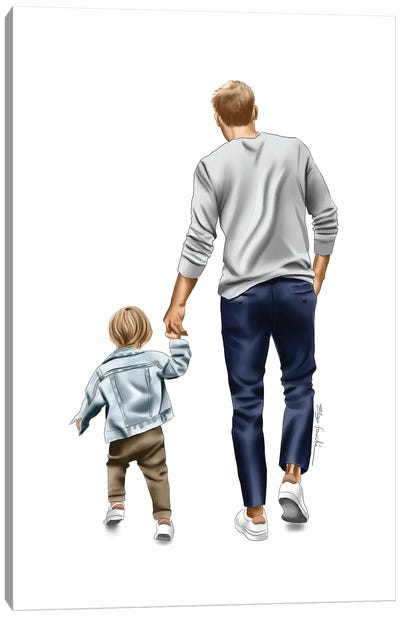 Dad And Son Canvas Art Print