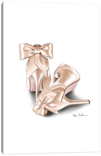 Bride Shoes Canvas Art Print