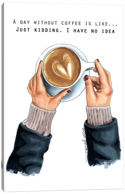 Coffee Addict Canvas Art Print