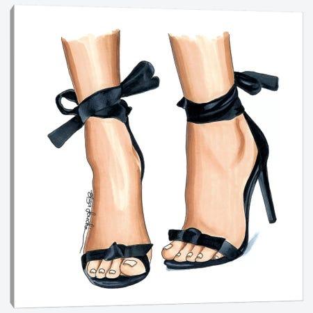 Cutesy Heels Canvas Print #ELZ26} by Elza Fouche Canvas Art