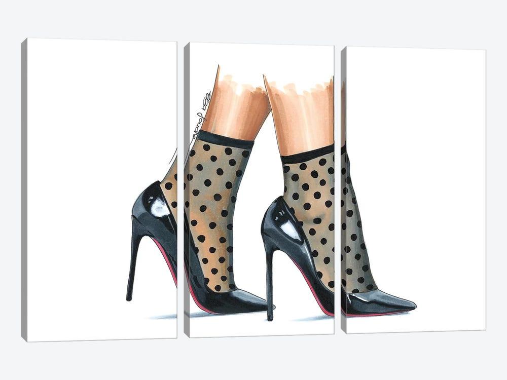 Dots & Heels by Elza Fouche 3-piece Canvas Print