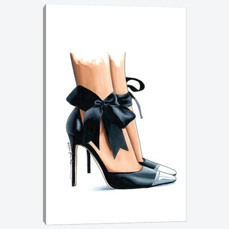 Ebony Bow Heels Canvas Print #ELZ28} by Elza Fouche Art Print