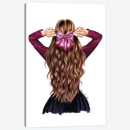 Hair Bow Canvas Print #ELZ31} by Elza Fouche Canvas Wall Art