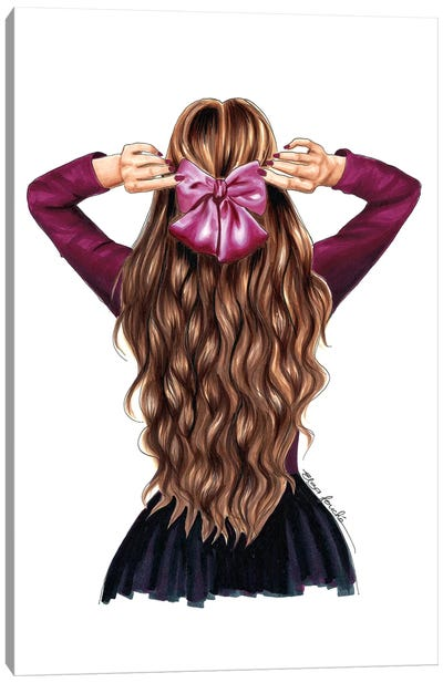 Hair Bow Canvas Art Print