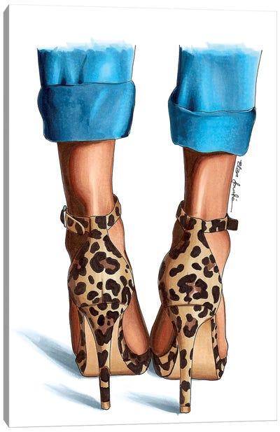 Jeans & Leopard Canvas Art Print