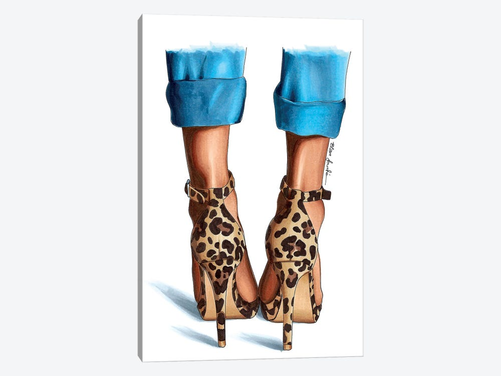 Jeans & Leopard by Elza Fouche 1-piece Canvas Wall Art